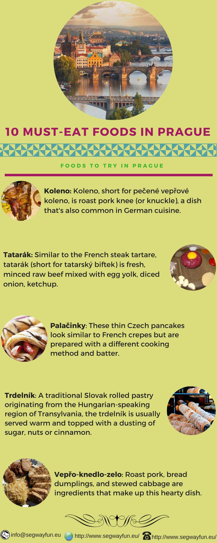 Know the various delicious foods in Prague. #Praguecitytour