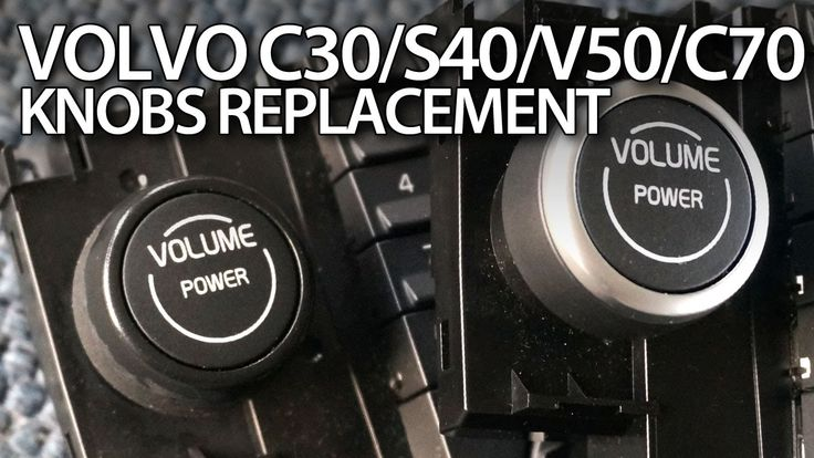 How to replace & fix knobs in #Volvo #C30 #S40 #V50 #C70 chrome #tuning CCM #cars