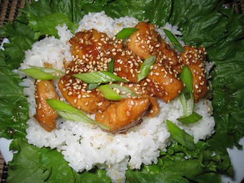 Sesame Chicken_the chicken is NOT battered in the recipe.  I am going to give this a try.