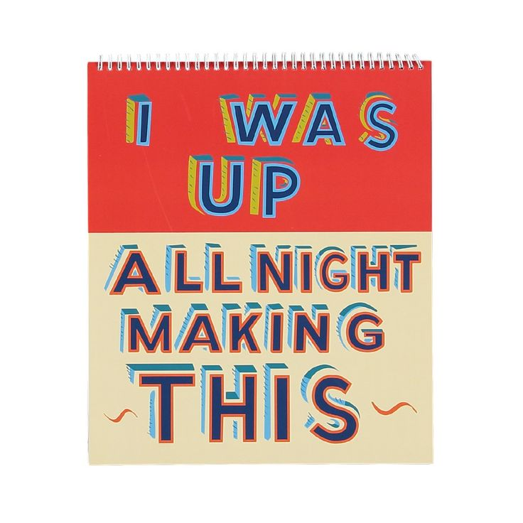 Whether you doodle, draw or paint, this sketchbook will be perfect for creating your next masterpiece. Designed in collaboration with artist Bob and Roberta Smith, the cover features a reproduction of his work <em>I was up all night making this.</em>