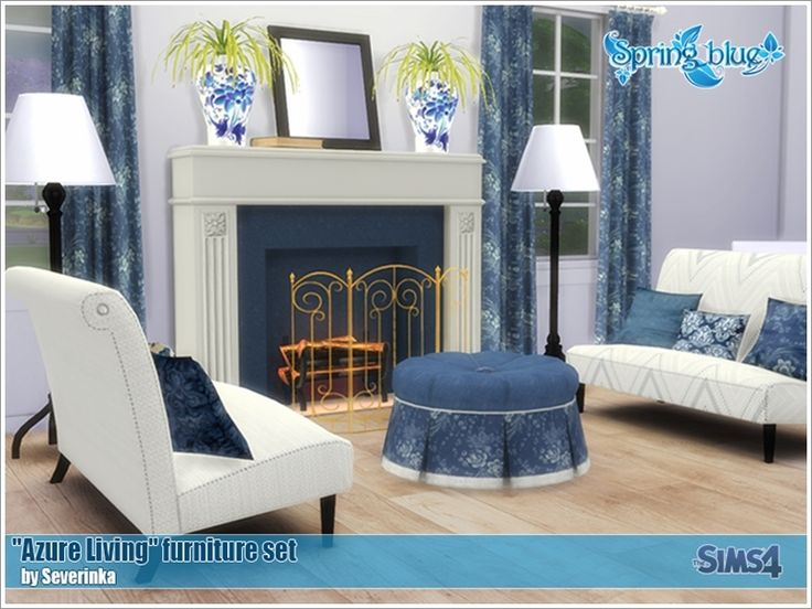 Created By Severinka Created For: The Sims 4 Azure Living A Set Of  Furniture And Decor In The Classic Style Of U0027Azure Livingu0027 Very Nice  Combination Of White ...