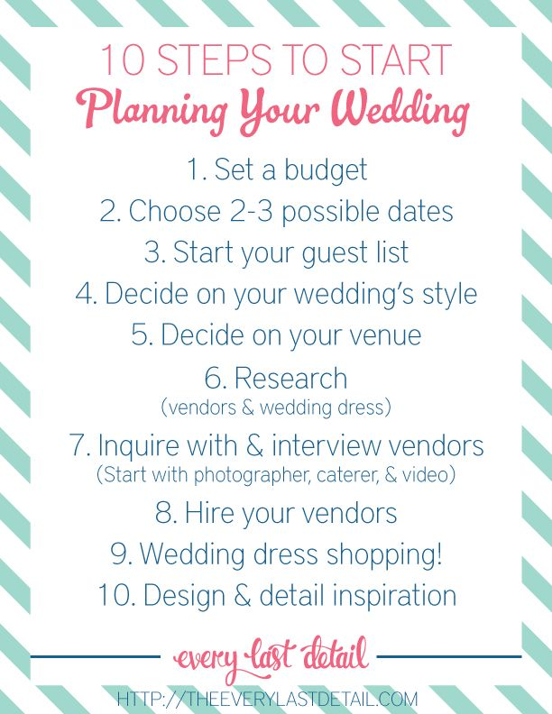 Newly Engaged? 10 Steps To Start Planning Your Wedding!