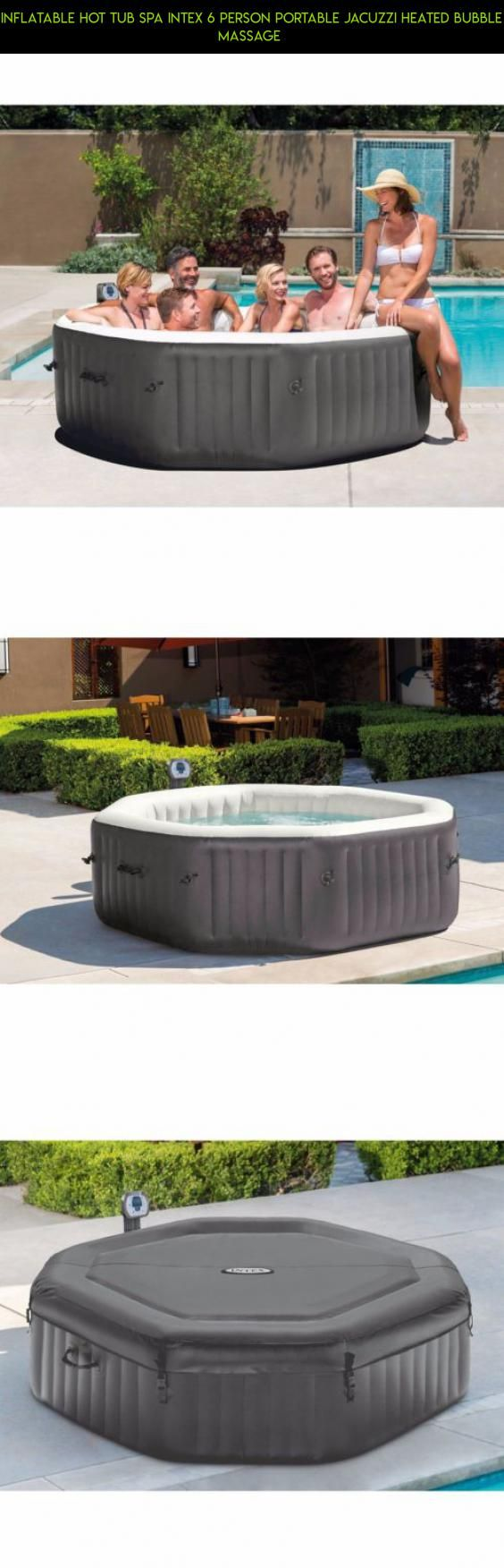 inflatable hot tub spa intex person portable jacuzzi heated bubble massage shopping drone