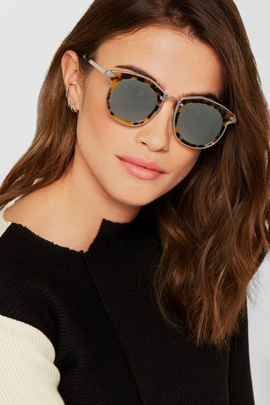 3f650ef64ee Karen Walker - Bounty Round-frame Tortoiseshell Acetate And Gold-tone  Sunglasses