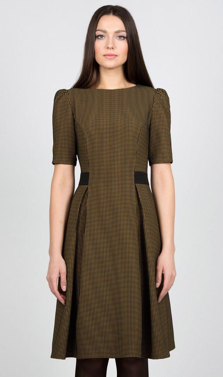 Платье в клетку Emka Fashion