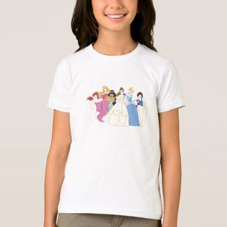 Disney Princesses Aurora Cinderella Snow White T-Shirt - click/tap to personalize and buy