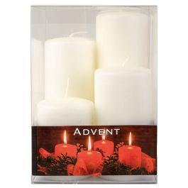 bougies de l'avent 4pcs 8/11/14/17cm blc - Décoration  - Action France