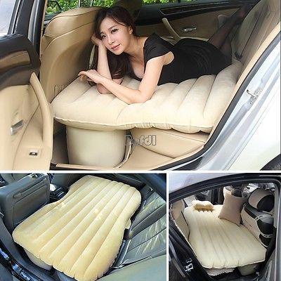 Автомобиль воздуха кровать надувной матрас сзади подушки сиденья + 1 подушка для путешествий кемпинг