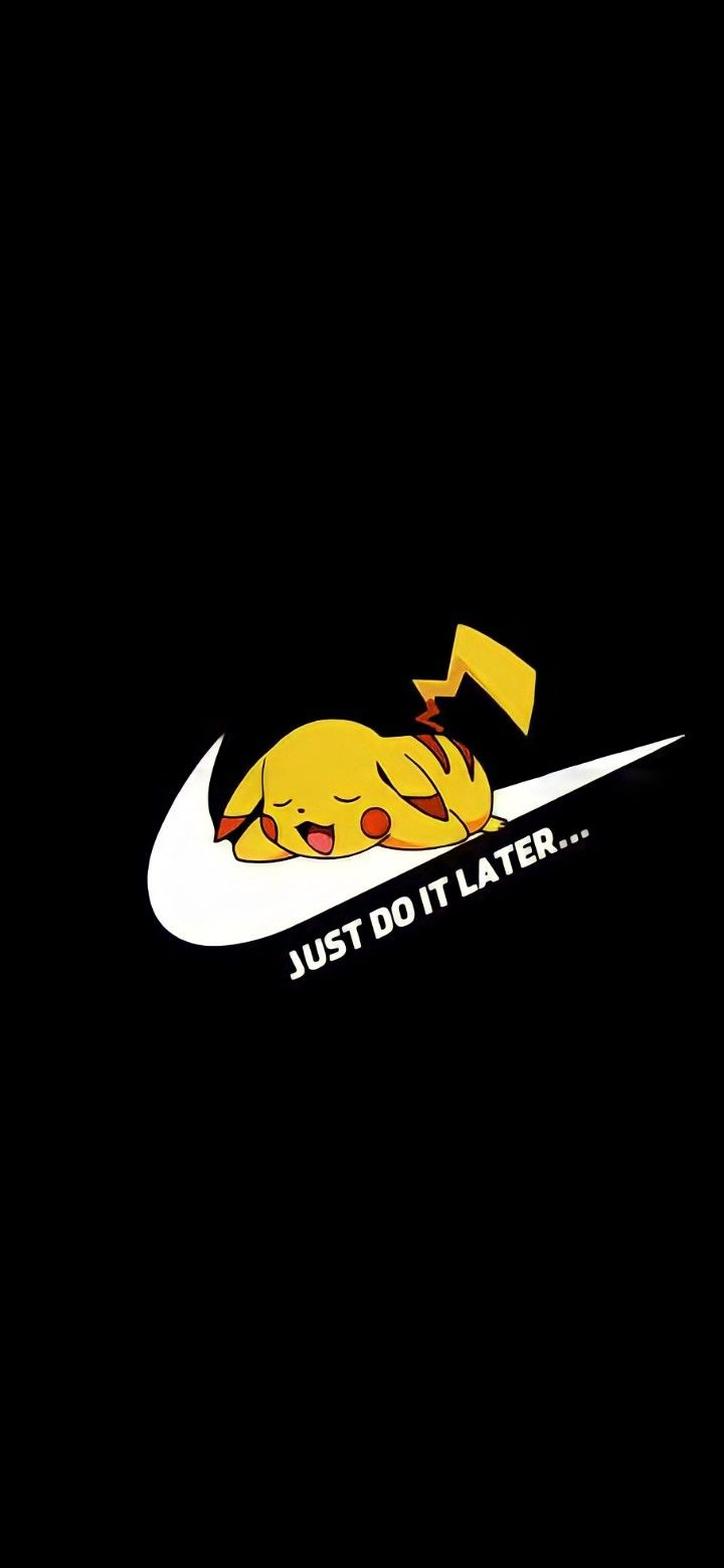Pin By S K On I Pikachu Wallpaper Iphone Just Do It Wallpapers Nike Wallpaper