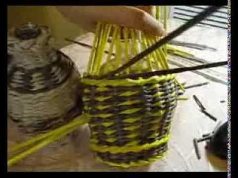 ▬► Плетение из газет загибки. Часть V/1 - YouTube