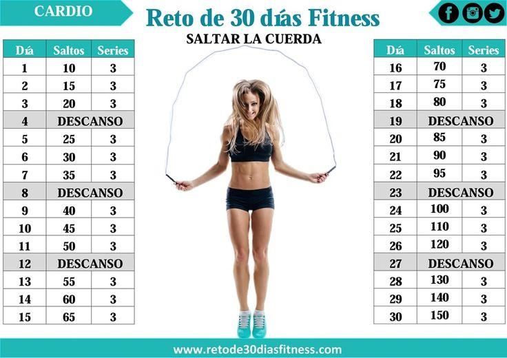 Tonifica y baja de peso con el reto saltar la cuerda - Reto de 30 días Fitness