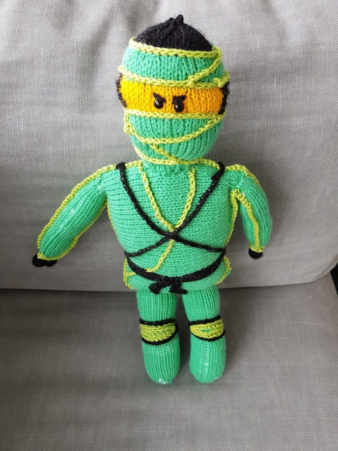 Lloyd Ninjago Strickoholics Stricken Lernen Puppe Strickpuppe