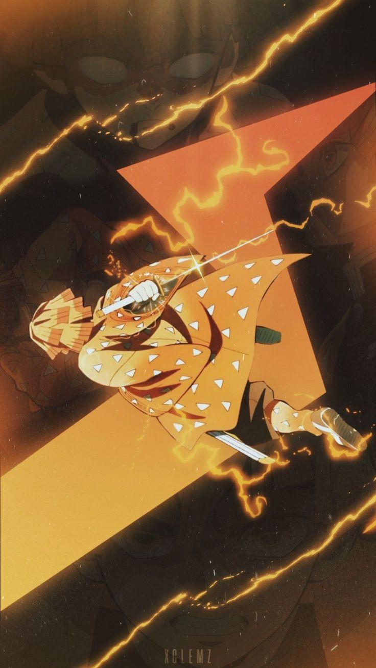 Zenitsu Wow l Pape r in 2020   Anime demon, Anime ...