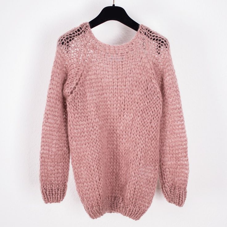 Maiami Mohair Basic Sweater - Antiquepink http://www.chicedition.com/maiami-mohair-basic-sweater-antiquepink.html
