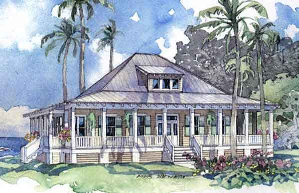 99 Metal Hip Roof Southern Cottage 3 Bedroom Master Down: coastal living house plans