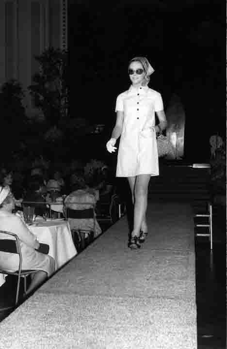 MP 6819. Fashion parade at the Mayoress reception in the Malvern Town Hall, 10 October 1968