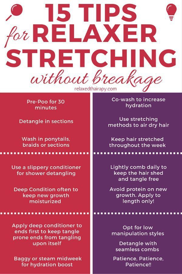 15 Tips to Stretch Relaxers without Breakage! #relaxedhair #relaxerstretching #relaxerstretch