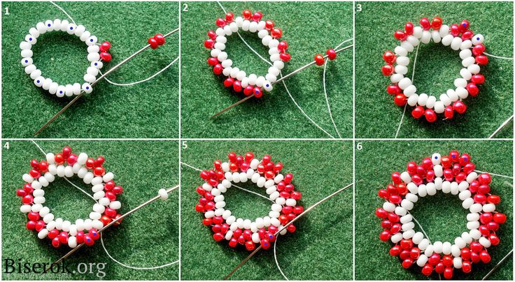 Huichol Beaded Earrings: сделано в Украине / Серьги / Biserok.org