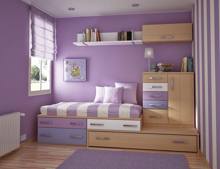 Gambar Kamar Tidur kecil Sederhana   Desain interior, Ide ...