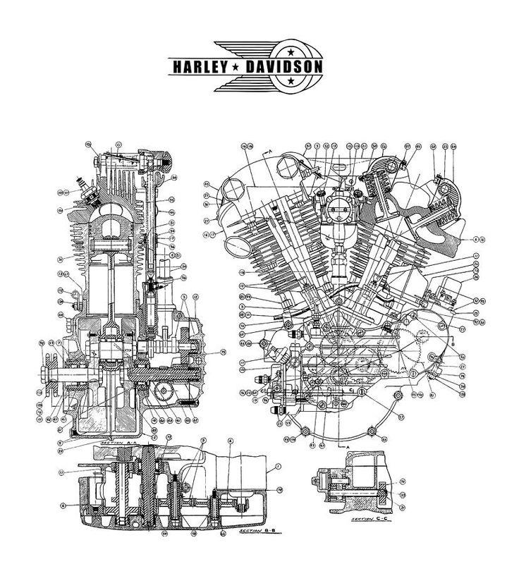 knucklehead engine diagram