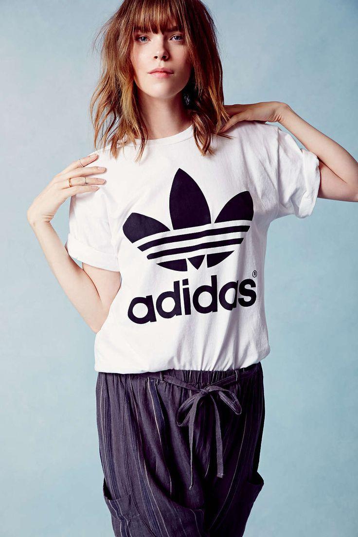 Urban Outfitters x adidas adidas Originals Trefoil Oversized T Shirt Dress Pink XS at Urban Outfitters from Urban Outfitters   ShapeShop