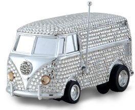 Let the music play on Swarovski Studded encrusted Vinyl killer Mini Bus millionaire toys global