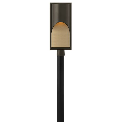 Cascade Bronze 22.5-Inch LED Amber Etched Organic Glass One-Light Outdoor Post Mount