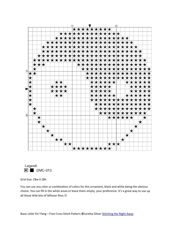 Free Crochet Pattern Yin Yang : 17 Best images about Yinyang on Pinterest Punto cruz ...