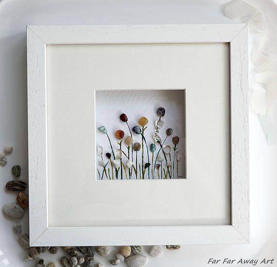 Flower Frame Glass Art Gemstone Art Pebble Art Mixed
