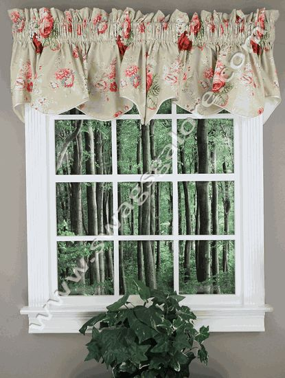 Sanctuary Scalloped Lined Valance - Linen - Ellis Curtains - Waverly Curtains