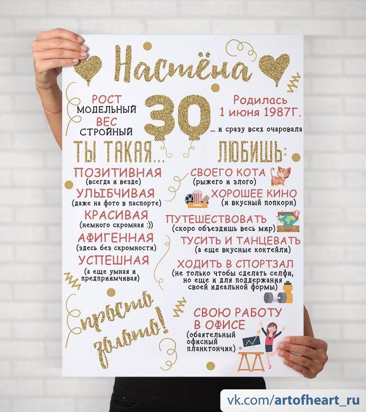 Постер для дня рождения