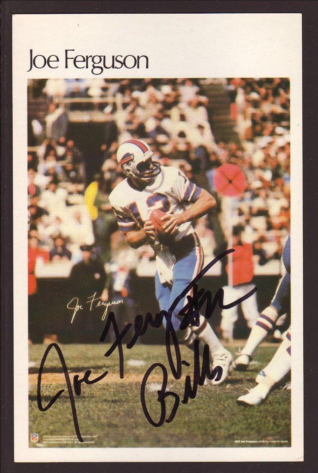 Joe Ferguson Autographed Photocard--Buffalo Bills http://clektr