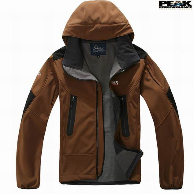 Peak Performance Braun Softshell Jacke Herren