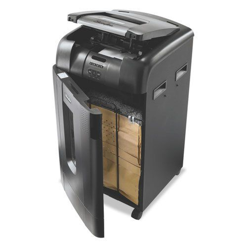 Swingline - Stack-and-Shred 750M, Micro-Cut Shredder, 750 Sheets 1758578 (DMi EA. Spend less time shredding versus a traditional shredder - just stack, shut and you're done. Up to 750-sheet automatic shredding of legal and letter size sheets. Can shred up to 10 sheets at a time during manual feed shredding. Shreds documents, paper clips, staples; credit cards must be manually inserted into rollers in autofeed chamber. DVDs and CDs can be shredded through a separate slot in the autofeed…