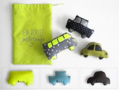 Voitures de voyage : en route  petite troupe!  jaune fluo http://www.alittlemarket.com/boutique/une_etoile_dans_ma_cabane-161176.html
