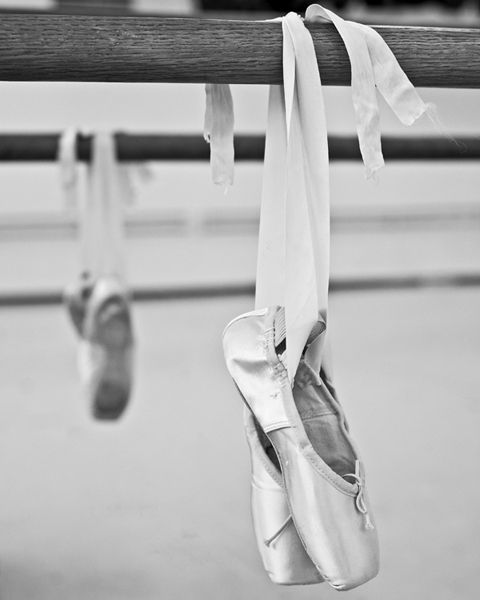 Pointe shoes and ribbons