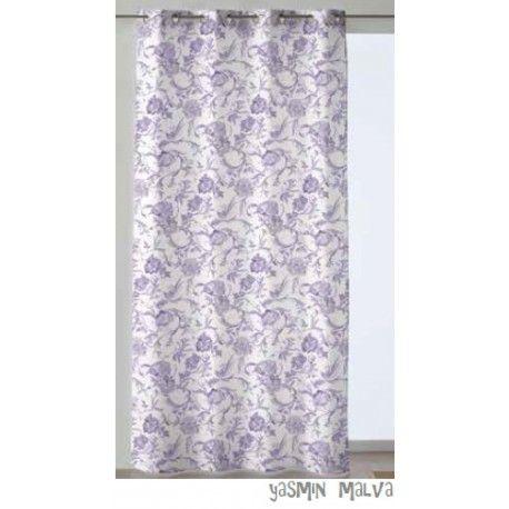 Cortinas confeccionadas Yasmin.  Saca tu lado más romántico con la cortina confeccionada Yasmin perfecta para tu dormitorio, su diseño estampado de flores proporcionará un toque clásico, pero a la vez atrevido con un toque de personalidad. Disponible en una amplia gama de colores azul, gris, malva y beig, que te dará la opción de escoger según tus necesidades.