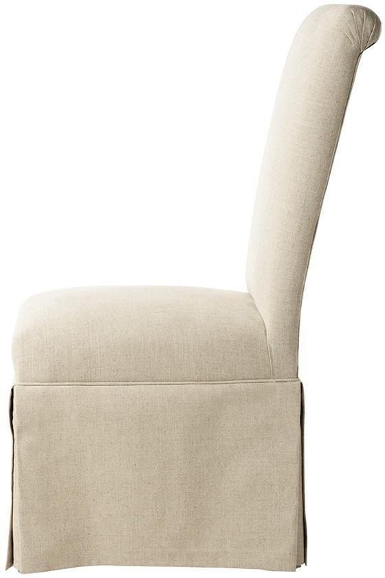 Custom Rolled Back Parsons Chair With Skirt I Need