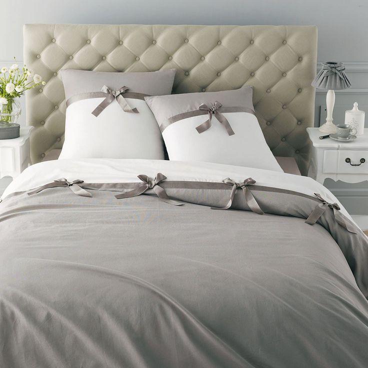 Juego de cama Noeud gris 2 personas 260 x 240 cm
