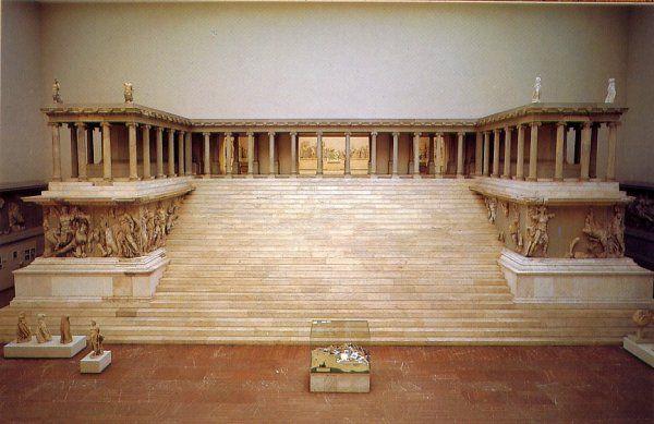 Altar de Zeus, Pérgamo. Época helenística. Arte griego.