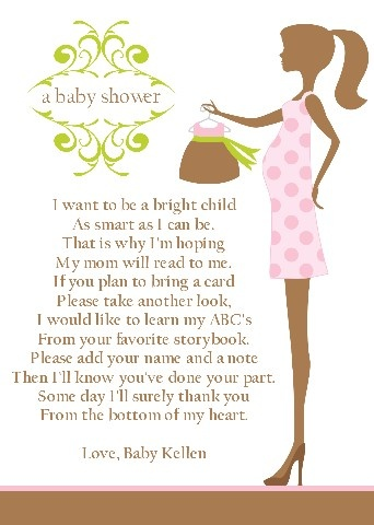 poems insert book baby shower ideas baby shower book poem insert