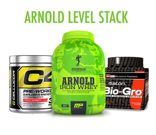 **SAVE $80!!**  GET ON ARNOLD'S LEVEL with the ultimate muscle building stack, to get you JACKED on a budget!