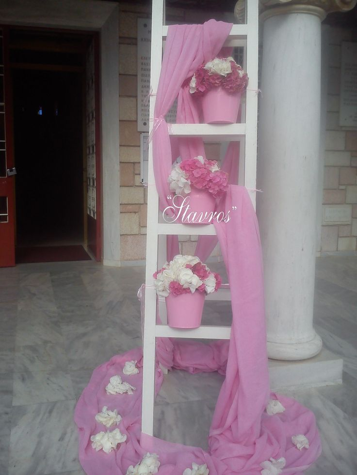 #White and #pink#hyndrageas creates a dreamy scenery for your baby girl baptism!!!