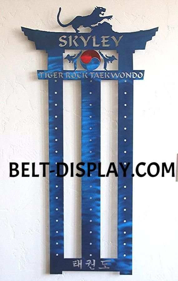 Tae kwon do Belt Holder : Martial Arts Belt Rack: Personalized Karate – Best on the Planet: Karate Belt Display: Martial Arts Belt Displays