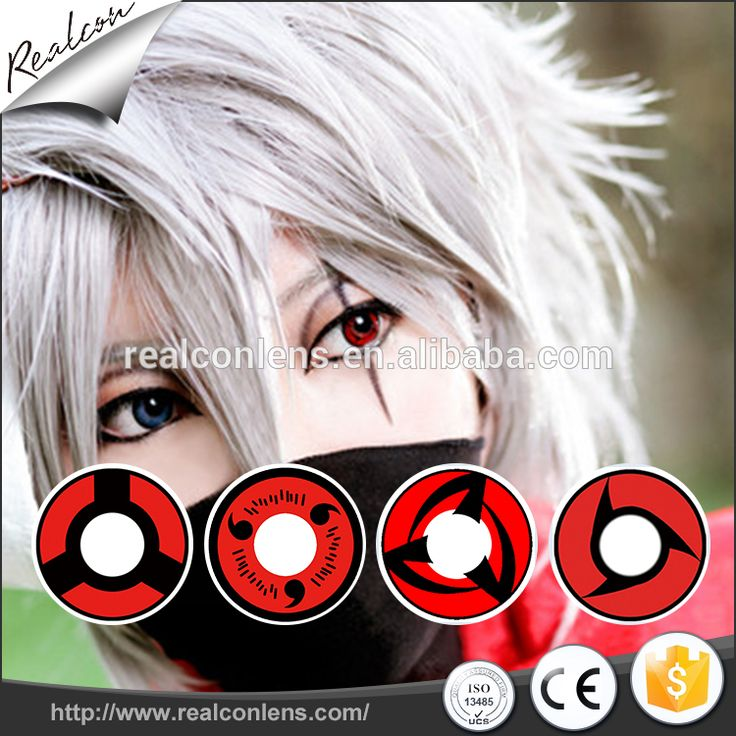 New arrival eyes color lens/crazy Cosplay sharingan contact lenses