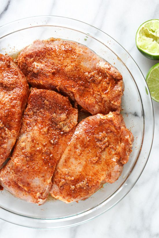 These garlic lime pork chops are so EASY to make, and they only take 10 minutes to cook. I usually make them in my broiler but they are also great on the grill, they come out juicy and SO flavorful!