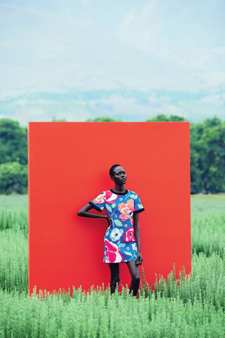 Ajak Deng by Julia Noni for Neiman Marcus March 2015.Black Fashion Stars