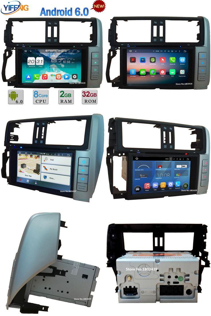 "[Visit to Buy] WIFI Android 6.0 8"" Octa Core 2GB RAM 4G DAB Car DVD Player Radio For Toyota Lander Cruiser Prado 150 2010-2013 GPS Navigation #Advertisement"