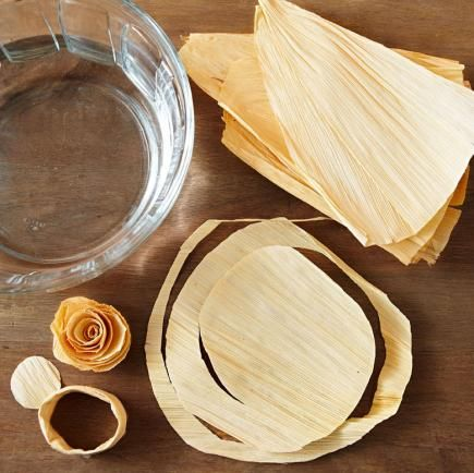 Create chic-for-the-season crafts with inexpensive dried corn husks. They're easy to trim and shape for simple autumnal decor.