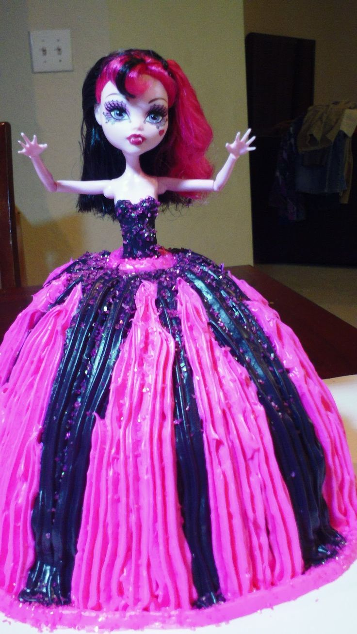 monster high doll cake - with butter icing